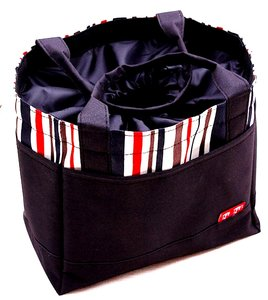zwarte bag in bag organizer