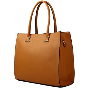 Cognac shopper tas Annabel